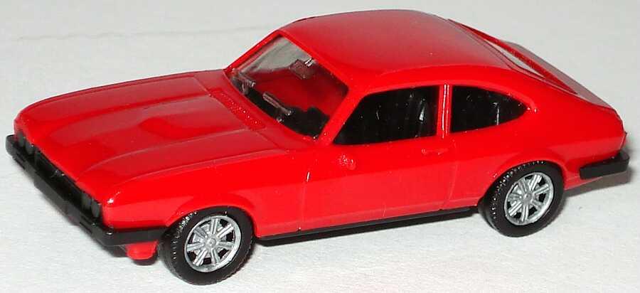 Foto 1:87 Ford Capri Mk III 3.0 Ghia rot, neue Felgen herpa 2005