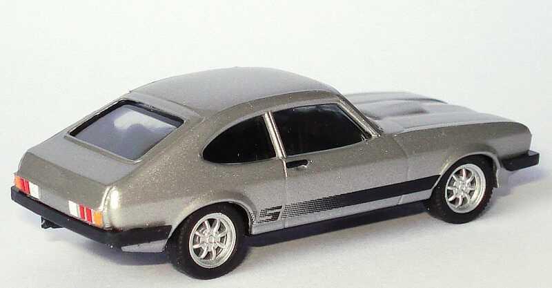 Foto 1:87 Ford Capri Mk III 3.0 S silber-met. (Neuauflage) herpa 033619