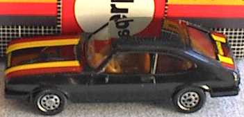 Foto 1:87 Ford Capri Mk III Rallye, IA beige (mit Naßschiebebogen und Karton) herpa 3550