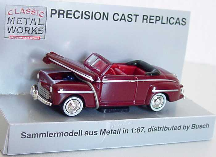 Foto 1:87 Ford Convertible (1948) weinrot Classic Metal Works 30102