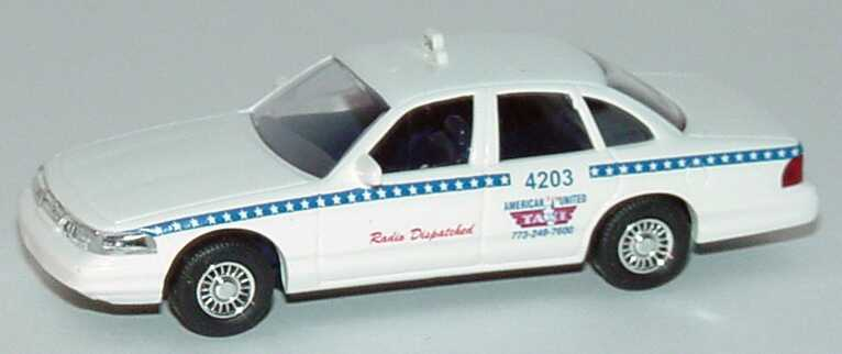 Foto 1:87 Ford Crown Victoria 1996 America United Taxi, Radio Dispatched Busch 49009