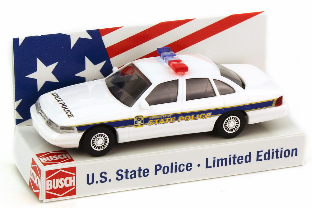 Foto 1:87 Ford Crown Victoria 1996 Connecticut State Police Busch 49086