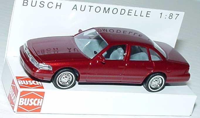 Foto 1:87 Ford Crown Victoria 1996 rot-met. Busch 49000