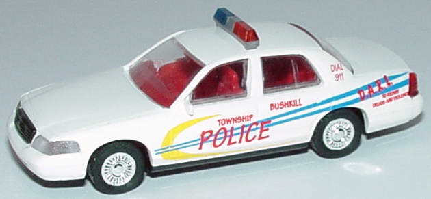 Foto 1:87 Ford Crown Victoria 1999 Bushkill Township Police, D.A.R.E. Cop Car Collection