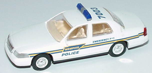 Foto 1:87 Ford Crown Victoria 1999 Memphis Police, 7003 Cop Car Collection