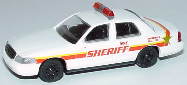 Foto 1:87 Ford Crown Victoria 1999 NYC Sheriff Cop Car Collection