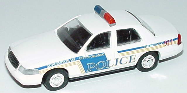 Foto 1:87 Ford Crown Victoria 1999 Orlando Police, Supervisor 148 Cop Car Collection