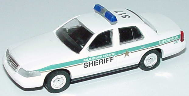 Foto 1:87 Ford Crown Victoria 1999 Palm Beach County Sheriff, 317 Cop Car Collection