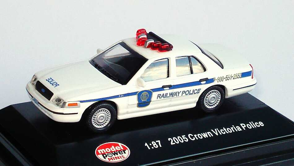 Foto 1:87 Ford Crown Victoria 2005 Canadian Pacific Railway Police Model Power 19404
