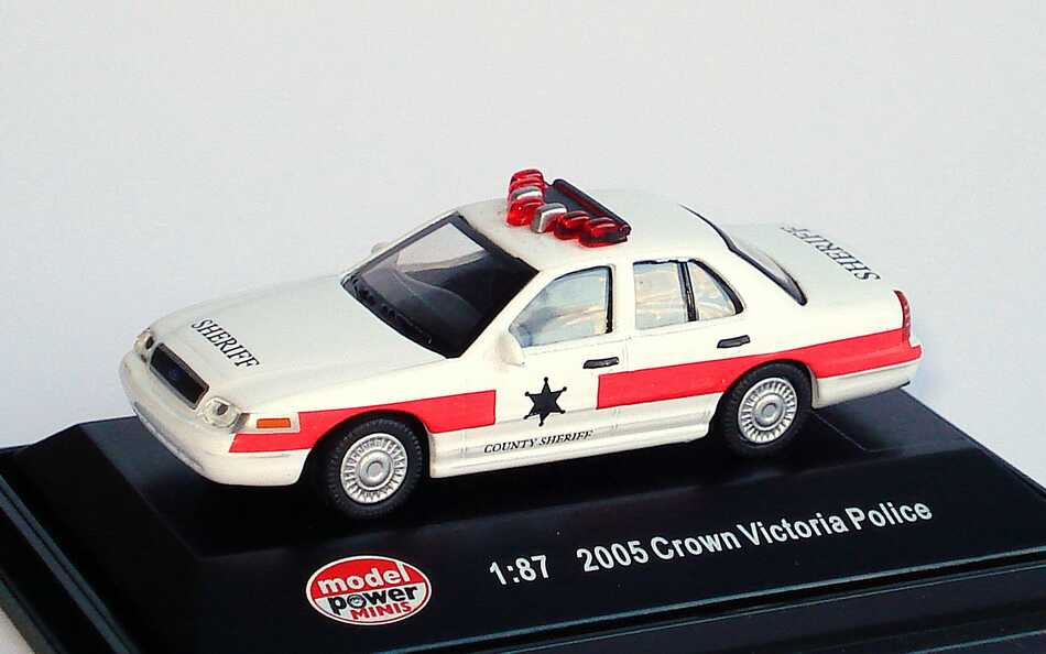 Foto 1:87 Ford Crown Victoria 2005 County Sheriff Model Power 19402