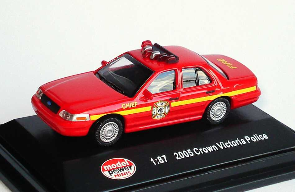 Foto 1:87 Ford Crown Victoria 2005 Fire Chief Model Power 19407