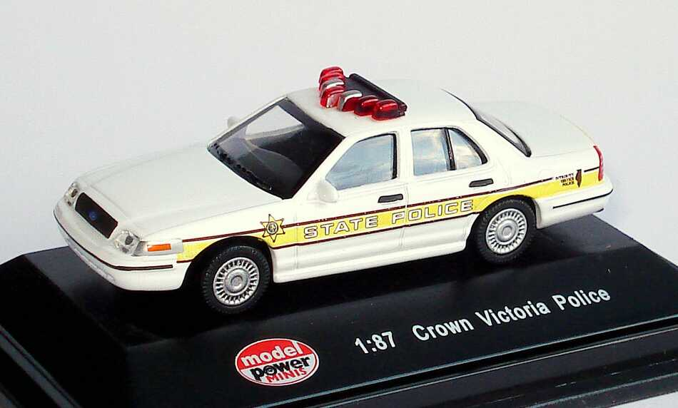 Foto 1:87 Ford Crown Victoria 2005 Illinois State Police Model Power 19398