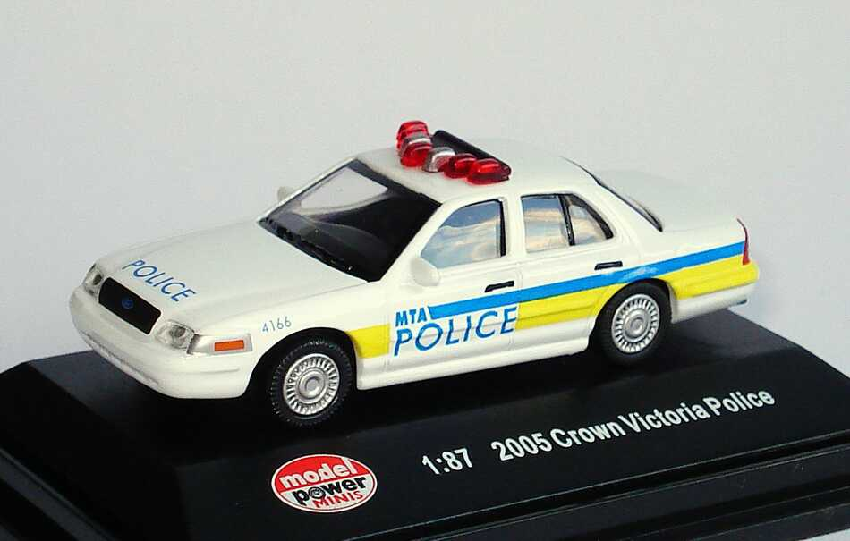 Foto 1:87 Ford Crown Victoria 2005 MTA Police, 4166 (Metropolitan Transit Authority) Model Power 19406