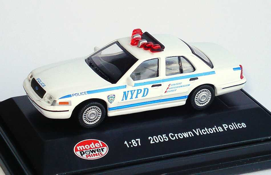 Foto 1:87 Ford Crown Victoria 2005 NYPD, New York Police Department Model Power 19394