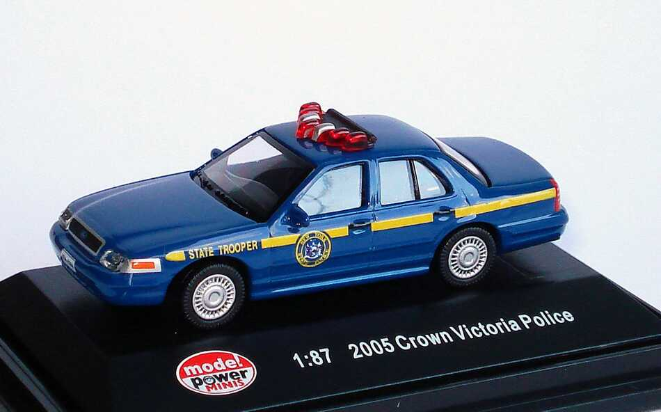 Foto 1:87 Ford Crown Victoria 2005 New York State Police, State Trooper Model Power 19395