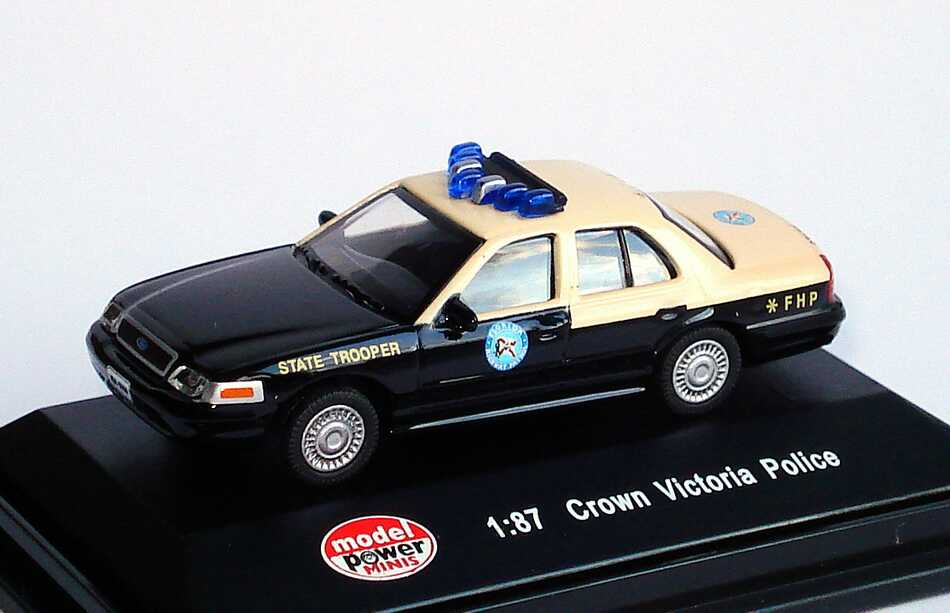 Foto 1:87 Ford Crown Victoria 2005 State Trooper, Florida Highway Patrol Model Power 19409