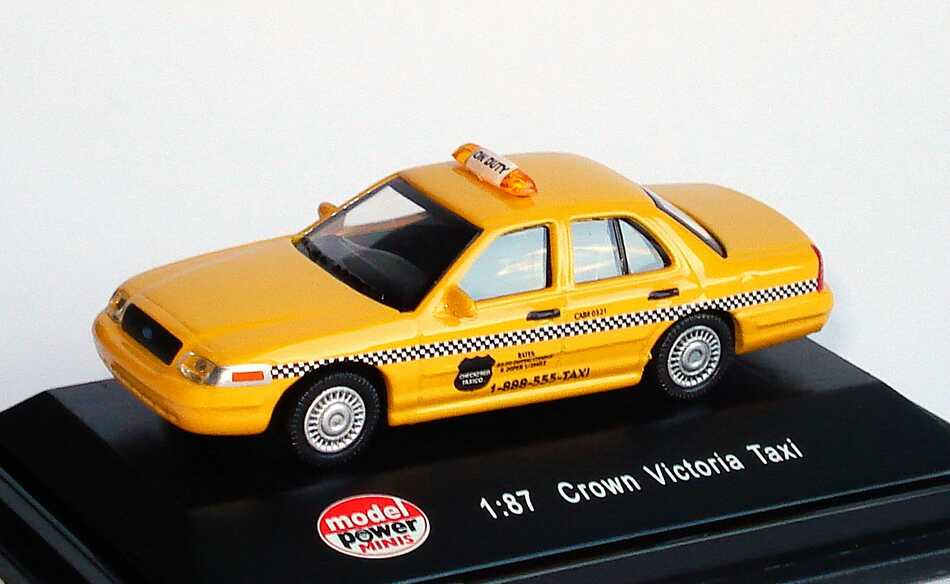 Foto 1:87 Ford Crown Victoria 2005 Taxi gelb Model Power 19393
