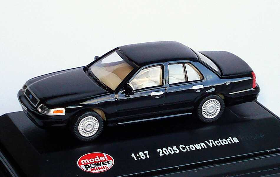 Foto 1:87 Ford Crown Victoria 2005 schwarz Model Power 19392