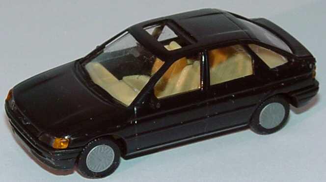 Foto 1:87 Ford Escort 4türig mit Schiebedach schwarz Praliné 5703
