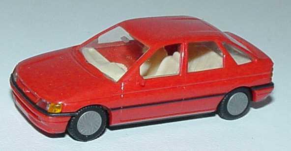 Foto 1:87 Ford Escort 4türig rot Praliné 5700