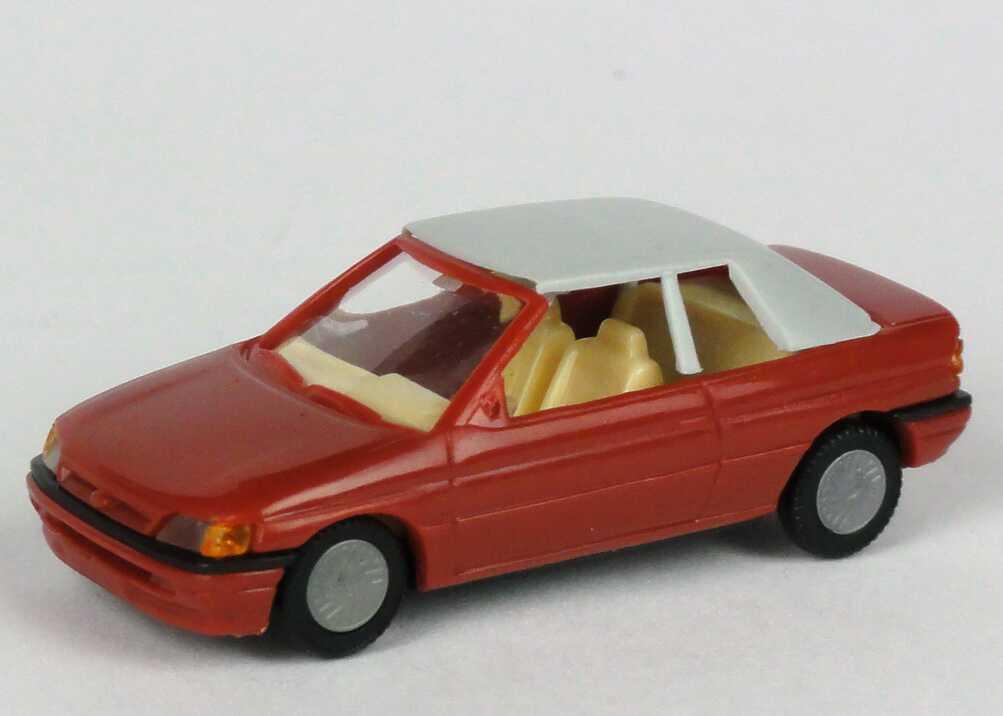 Foto 1:87 Ford Escort Cabrio geschlossen dunkelrot Praliné 5706