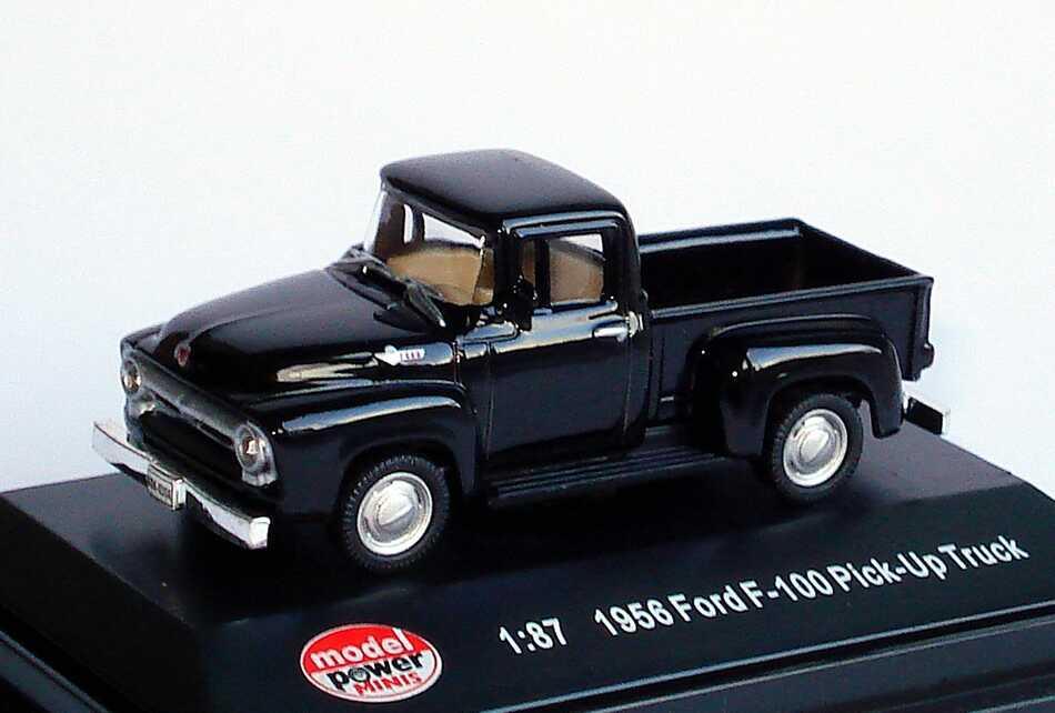 Foto 1:87 Ford F-100 Pickup (1956) schwarz Model Power 19230