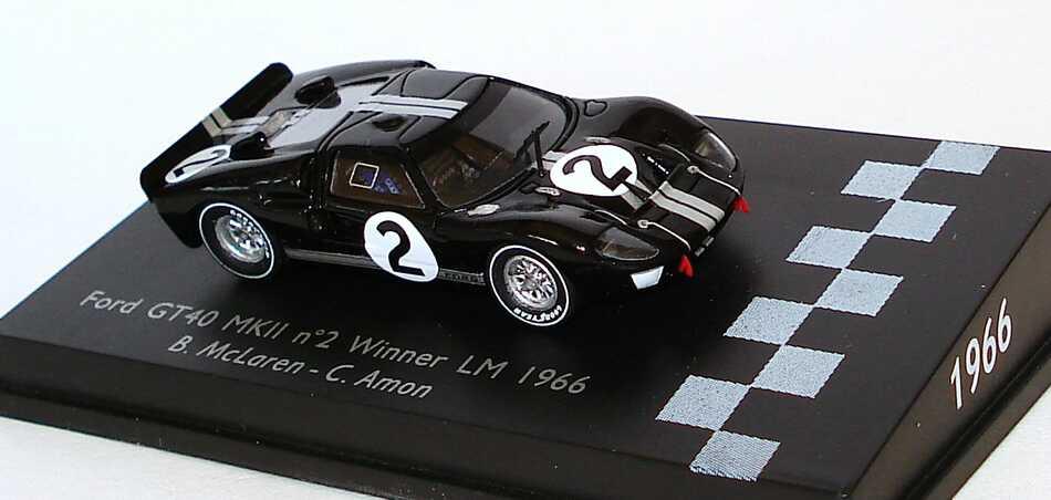 Foto 1:87 Ford GT40 MK II 24h von Le Mans 1966 Nr.2, Bruce McLaren / Chris Amon (Sieger) Spark 87LM66