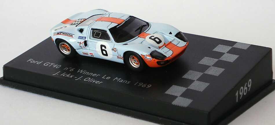 Foto 1:87 Ford GT40 MK II 24h von Le Mans 1969 Gulf Nr.6, Jacky Ickx / Oliver (Sieger) Spark 87LM69