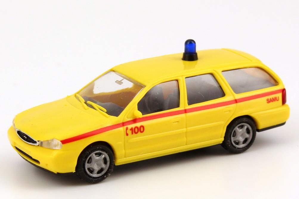 Foto 1:87 Ford Mondeo MK1 Facelift Turnier SAMU (Notarzt Mouscron) Rietze 50895