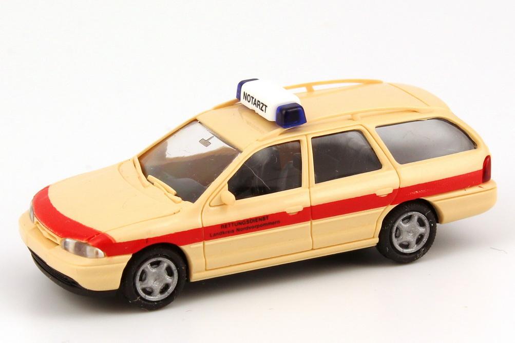 Foto 1:87 Ford Mondeo MK1 Turnier Notarzt, Rettungsdienst Landkreis Nordvorpommern Rietze 50594
