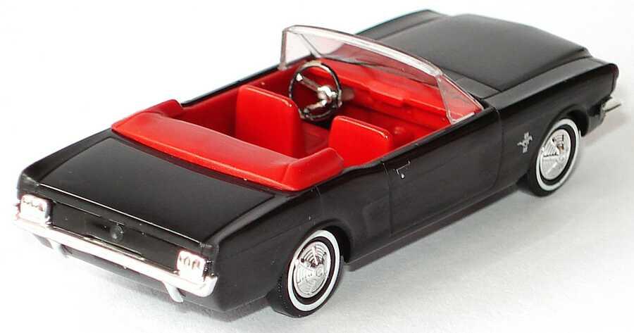 ford mustang cabrio 64 schwarz ia rot busch in der 1zu87. Black Bedroom Furniture Sets. Home Design Ideas