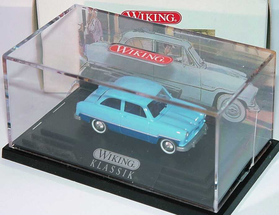 Foto 1:87 Ford Taunus 12M hellblau/dunkelblau Wiking 79906