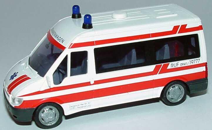 Foto 1:87 Ford Transit 2000 Bus Mittelhochdach RKT-Krankenwagen, Regensburg Rietze 51083
