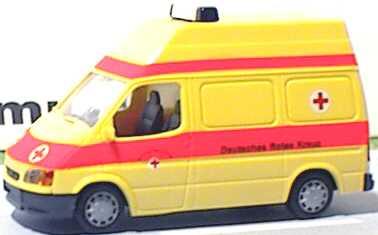 Foto 1:87 Ford Transit '94 Kasten Hochdach DRK Rietze 50700