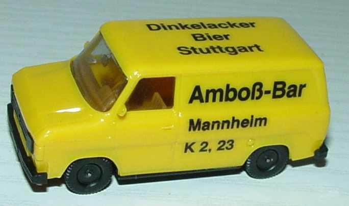 Foto 1:87 Ford Transit MK2 Kasten Dinkelacker/Amboß-Bar, Mannheim herpa