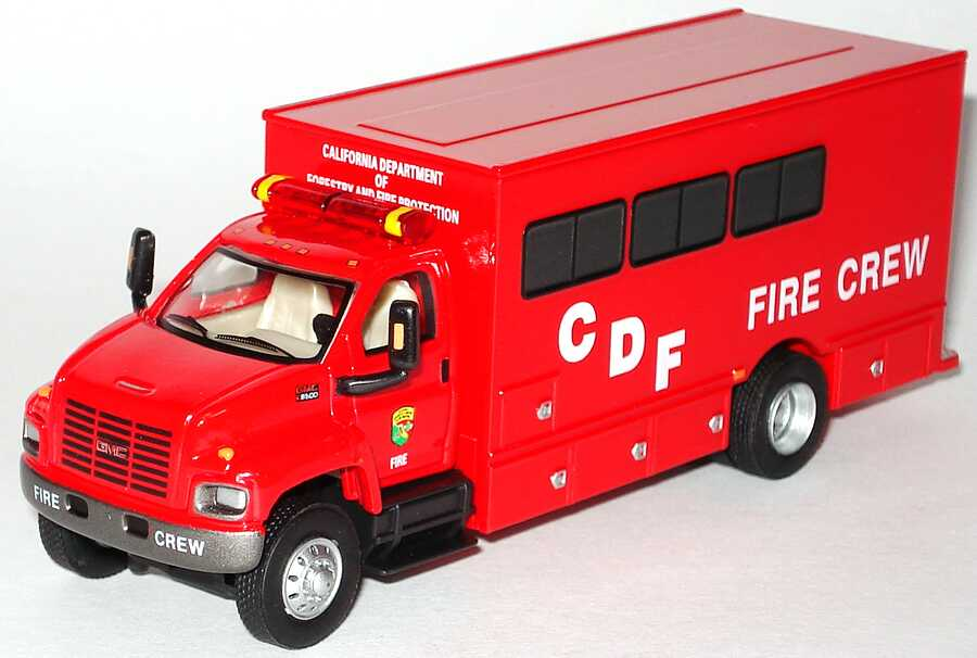 Foto 1:87 GMC TopKick Mannschaftswagen California Department of Forestry and Fire Protections,  CDF Fire Crew Schuco 21820