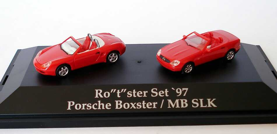 Foto 1:87 HCC Rotster Set 97 Porsche Boxster + Mercedes SLK - herpa 195751
