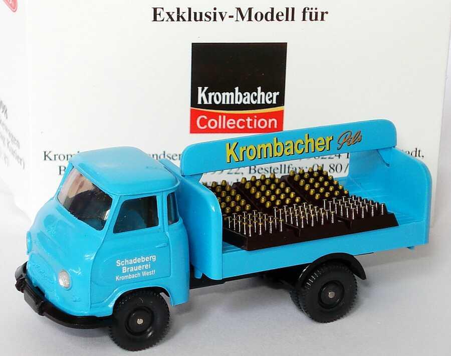 Foto 1:87 Hanomag Kurier Getränkewagen Krombacher Pils, Schadeberg Brauerei (Krombacher Collection) Wiking 8098