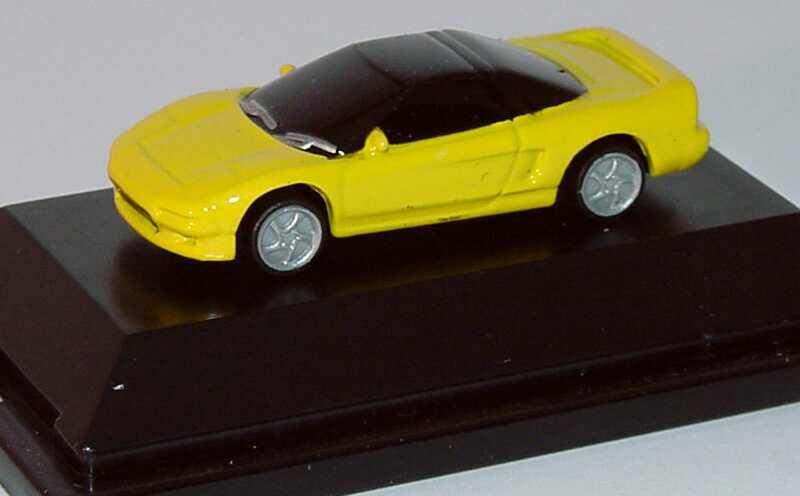 Foto 1:87 Honda NSX gelb (DieCast-Vollgußmodell) Mini Collection 99027