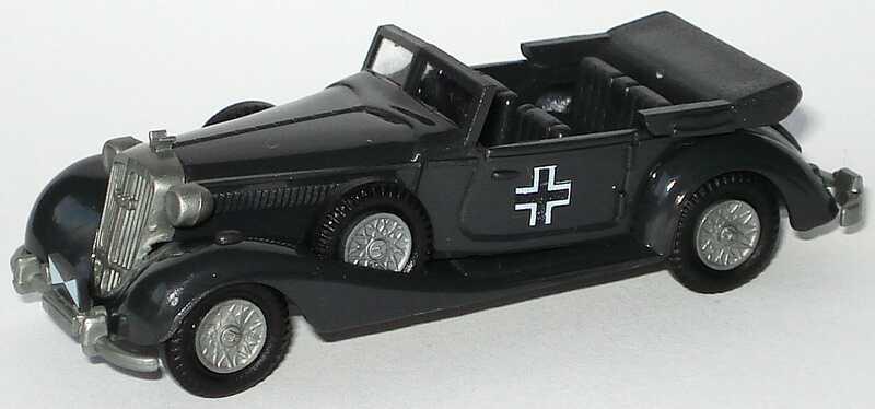 Foto 1:87 Horch 853 Cabrio dunkelgrau Wehrmacht Praliné
