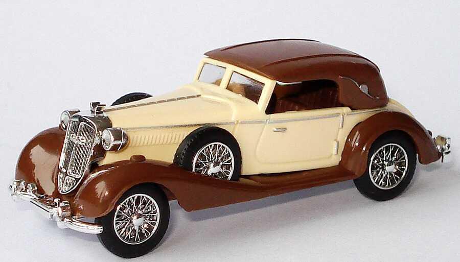 Foto 1:87 Horch 853 Sportcabriolet beige/braun geschlossen Busch 41309