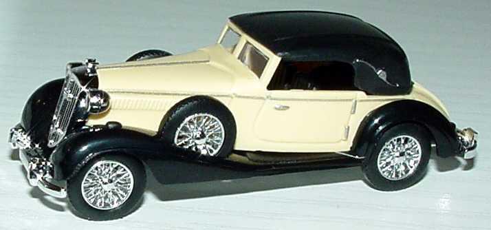 Foto 1:87 Horch 853 Sportcabriolet beige/schwarz geschlossen Busch 41309