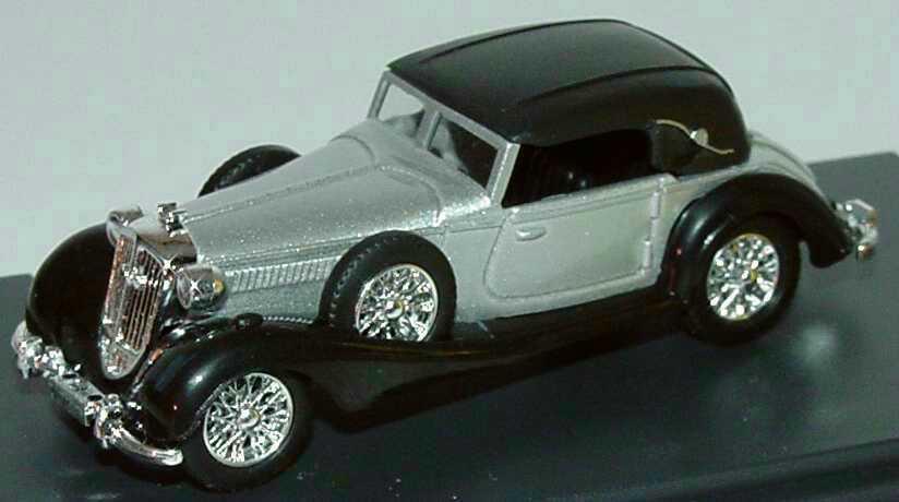 Foto 1:87 Horch 853 Sportcabriolet silbermet./schwarz geschlossen Mafia Busch