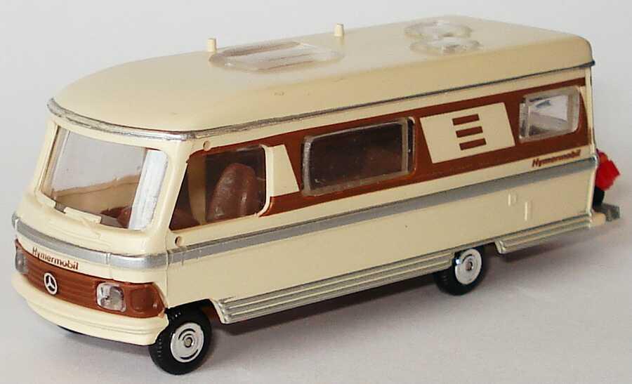 Foto 1:87 Hymer Hymermobil 660 beige/braun mit Motorroller rot Rietze 30071