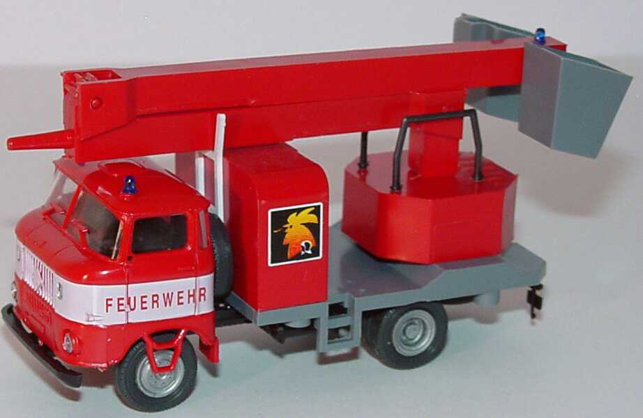 Foto 1:87 IFA W50 2a Montagemast-Lkw Feuerwehr (Messemodell Der Rote Hahn) SES Automodelle 14105656