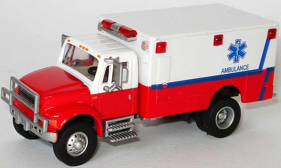 Foto 1:87 International 4700 Rettungswagen Ambulance Schuco 21815