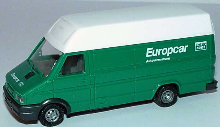 Foto 1:87 Iveco Daily Kasten lang Hochdach Europcar InterRent Autovermietung Busch 47904