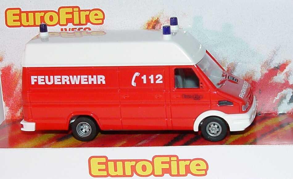 Foto 1:87 Iveco Daily Kasten lang Hochdach Feuerwehr Werbemodell Busch 2624