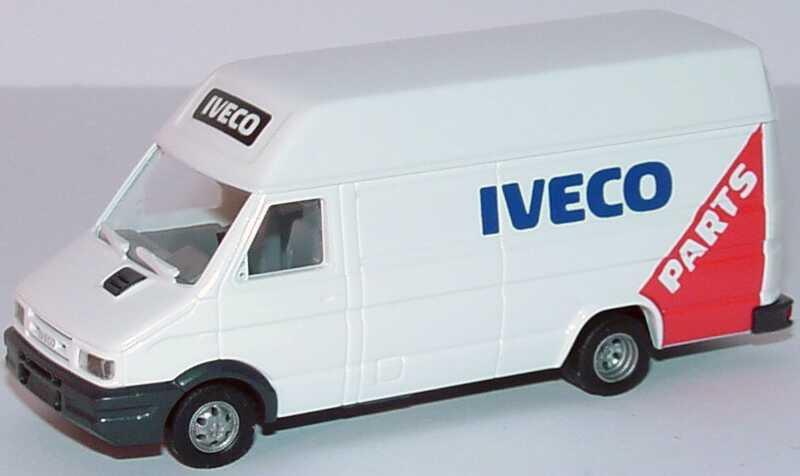 Foto 1:87 Iveco Daily Kasten lang Hochdach Iveco Parts Werbemodell Busch 2509