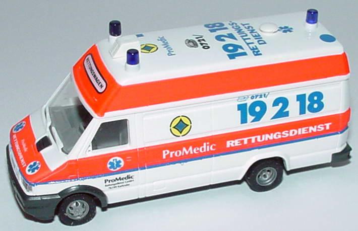 Foto 1:87 Iveco Daily Rettungswagen ProMedic Karlsruhe Busch 47907